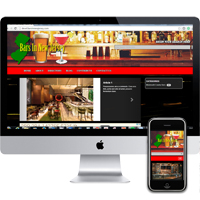 Web design in Red Bank NJ for Bars In New Jersey.  Portfolio piece example.