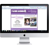 Shrewsbury NJ web design for Team Hannah: Portfolio