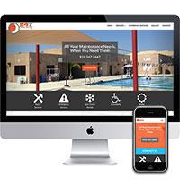 Monmouth County NJ web design portfolio piece, 24/7 Repair Service.
