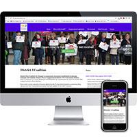 Web design in Middletown NJ portfolio piece, District 4 Coalition.