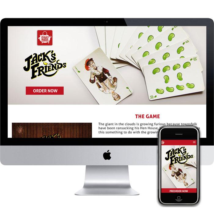 Portfolio Piece, Jacks' Friends, a web design in atlantic highlands NJ project.